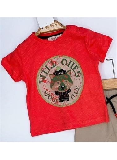 Riccotarz Erkek Bebek Wild Ones Yazılı Mercan Eşofman Takım Renkli